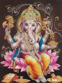 Ganesh On Lotus Sudarshana Vidya Ganesha My Sweet Lord
