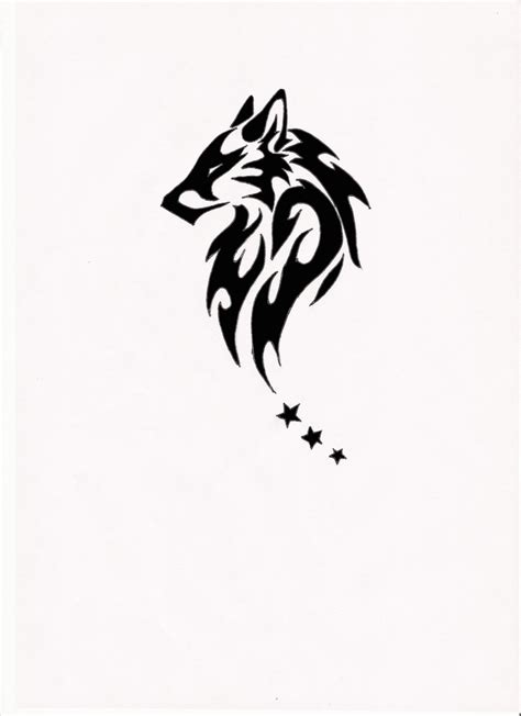 wolf tattoos tribal