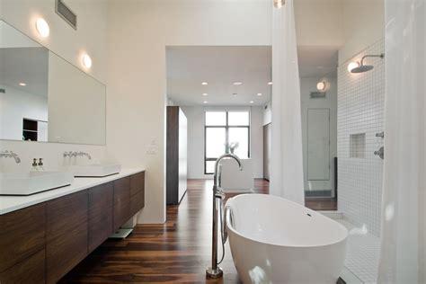 modern wood bathroom vanity dark bathroom vanity bathroom transitional with accent wall black and