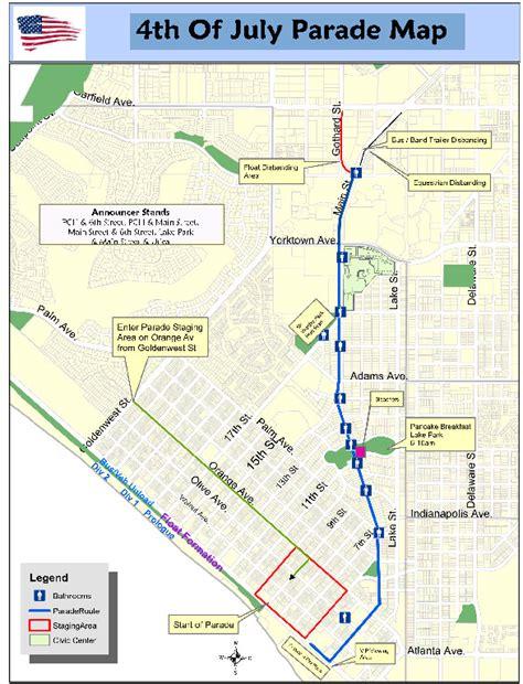 maps huntington beach fourth of july parade road closures and parking main pch - Pch Com Parade