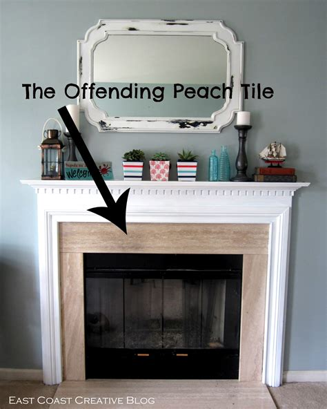Painting Fireplace Tiles by Stenciled Faux Tile Fireplace Tutorial East Coast