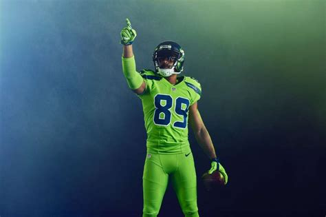 seattle seahawk colors seattle seahawks color uniforms are boldest look yet