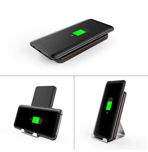 wireless charger fan qi wireless 9v 10 8w fast charge double coil wireless