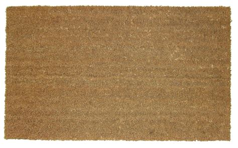 Plain Coir Doormat diall plain coir pvc doormat l 110cm w 80cm departments diy at b q