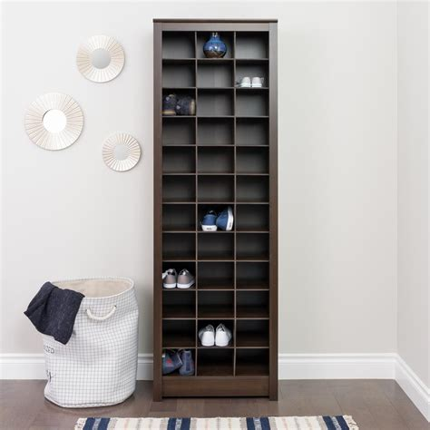 storage of shoes prepac espresso space saving shoe storage cabinet eusr