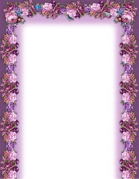 printable purple flowers purple flower borders and frames music printable flower