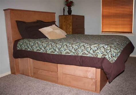 custom bed with secret gun compartment in headboard