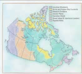 landform region map of canada western cordillera