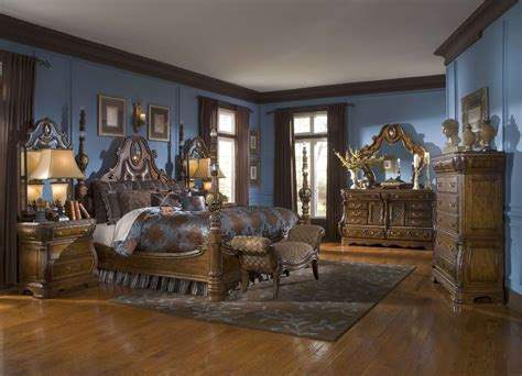 michael amini  sovereign soft mink traditional bedroom