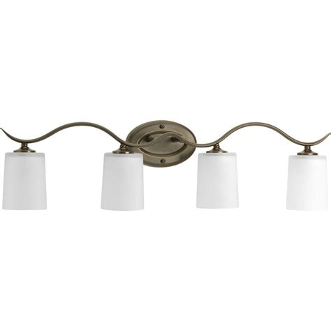 4 Light Bathroom Vanity Fixture Progress Lighting Inspire Collection 4 Light Antique