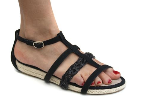 odeon sandals odeon black plaited womens espadrille strappy