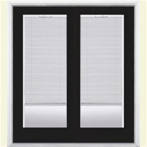 Mini Blinds For Patio Doors Masonite Jet Black Prehung Right Inswing Mini Blind Steel Patio Door With Brickmold 21986