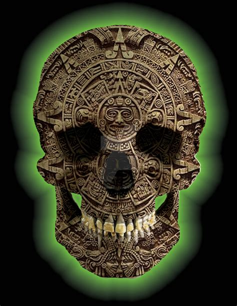 aztec skull s6new by rubengenesis on deviantart