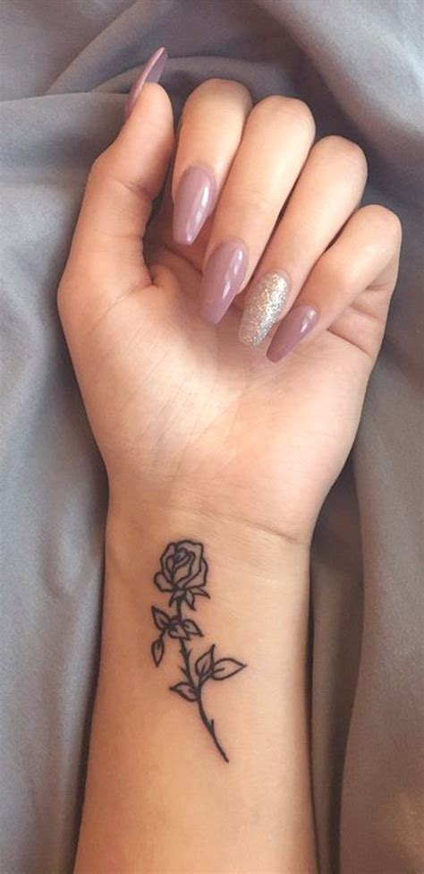 small ladies tattoos small wrist ideas for minimal flower