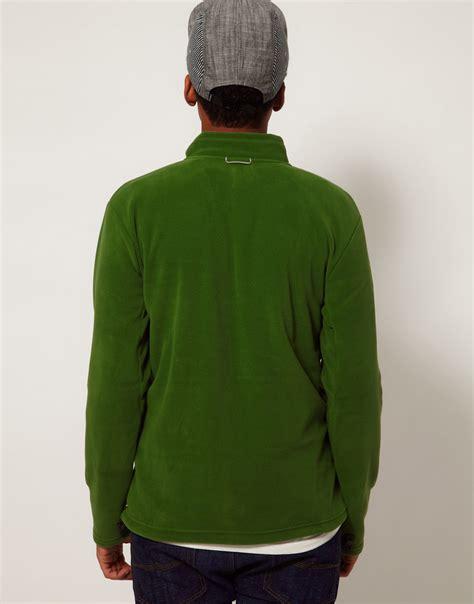 Jaket Fleece Korea Zipper Pria lyst the 100 glacier zip fleece jacket in green for