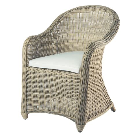 Wicker Armchairs Uk by Wicker Garden Armchair St Rapha 235 L Maisons Du Monde