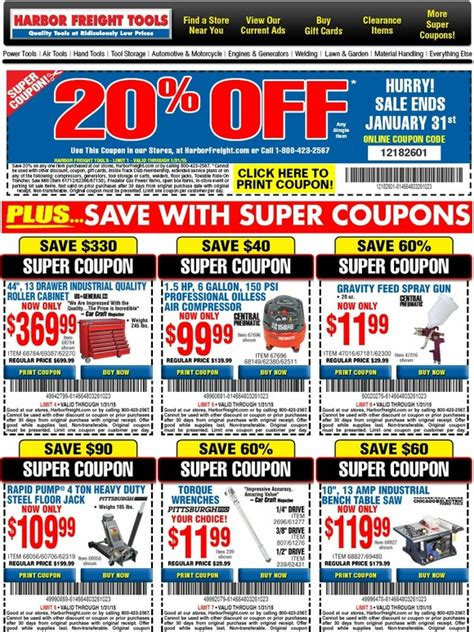 Griots Garage Coupons by Harbor Freight Coupons Gordmans Coupon Code