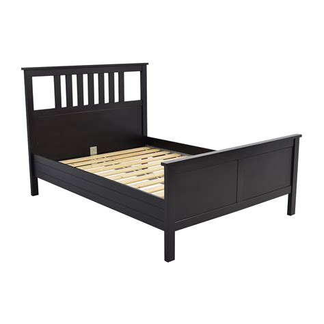 ikea wood bed frame 53 off ikea ikea dark brown wood queen bed frame beds
