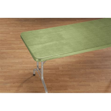illusion weave vinyl elasticized banquet table cover by hsk