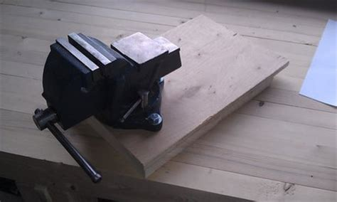 how to mount a bench vise bench vise appliance mount by raggedkerf lumberjocks com woodworking community