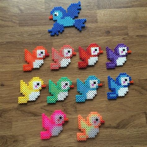 Rainbow birds hama beads by mediegiraf Perler Beads Classroom Pinterest Hama beads