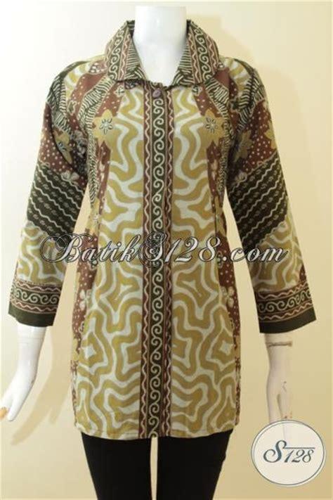 desain baju batik dewasa blus batik klasik desain mewah pas buat wanita dewasa