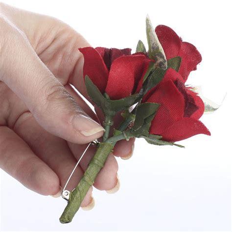 Rosebud Satin Mini small premade artificial rosebud boutonniere silk and