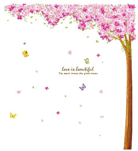 Wall Sticker Cherry Blossom Flower large flower cherry blossom tree wall sticker decals ebay