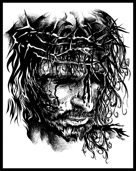 Black And White Drawings Of Jesus by Jesus By Xlorite On Deviantart
