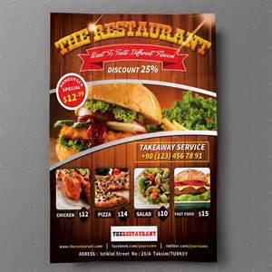 restaurant flyers templates restaurant flyer 01 flyer templates on creative market