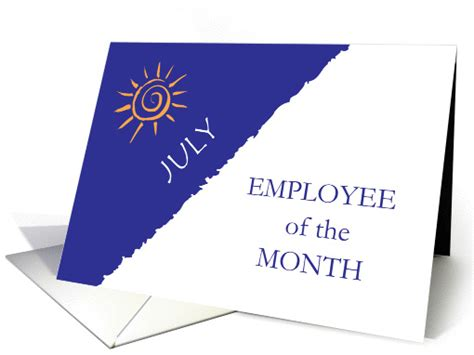 July Card Of The Month by Employee Of The Month July Card 1302558