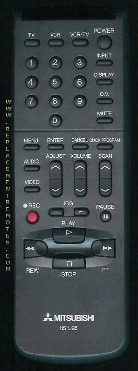 Mitsubishi Remote Codes Buy Mitsubishi Hs U28 Hsu28 939p518070 Vcr Remote