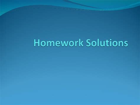 Homework Solution by Homework Solutions