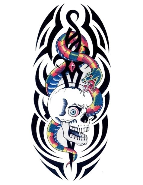 skull and snake tattoo designs tribal snake and skull designs 187 ideas