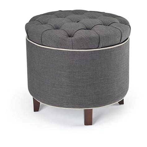 tufted ottoman with storage tufted ottomans easy home concepts