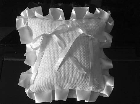 cuscino portafedi da ricamare cuscino fedi cuscinetto portafedi fedi volant raso da