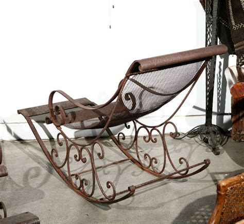 Wrought Iron Rocking Chair by Outdoor Forged Wrought Iron Rocking Chairs At 1stdibs