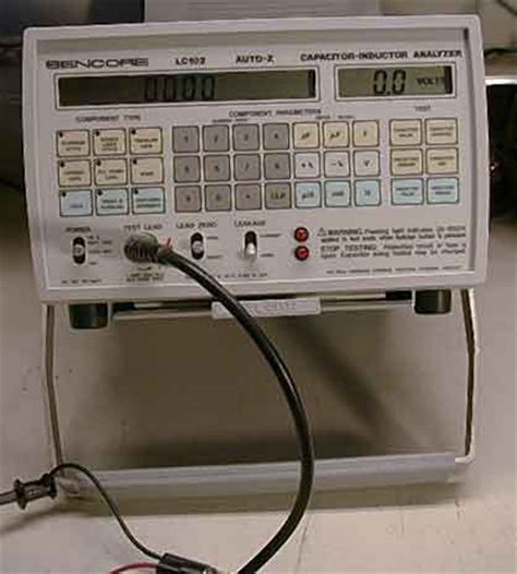 capacitor inductor analyzer sencore lc102