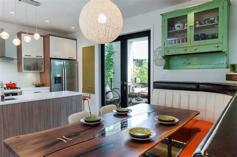Custom Kitchen Banquette Seating Custom Banquette Seating Rethinks The Open Plan Kitchen