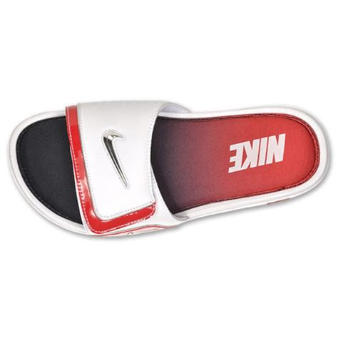 nike comfort slide 2 white and blue nike comfort slide 2 white metallic silver sport red