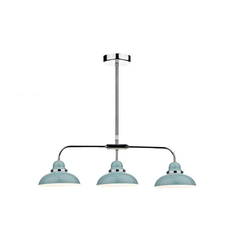 Three Light Pendant Dynamo Dyn0323 3 Light Bar Pendant Blue