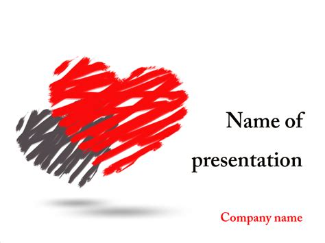 ppt templates free download heart download free two hearts powerpoint template for your