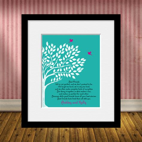 best personalized gifts personalized best friend gift best friend poem best friends
