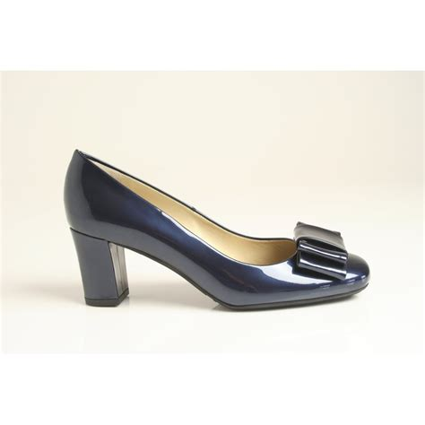 navy patent shoes kaiser style pallau in quot notte latek quot navy patent