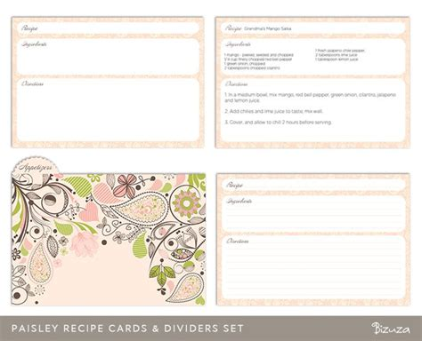 template for recipe card dividers 17 best images about карточки для рецептов on