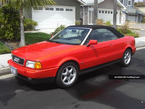 old car repair manuals 1997 audi cabriolet electronic throttle control 1997 audi cabriolet base convertible 2 door 2 8l