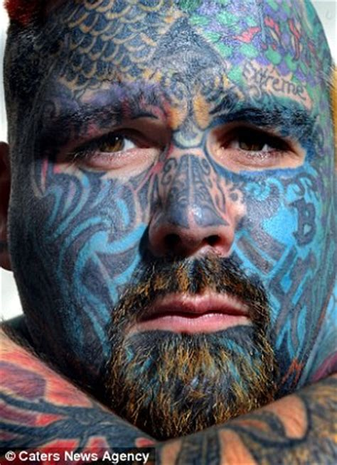 britain s most tattooed man spends thousands having