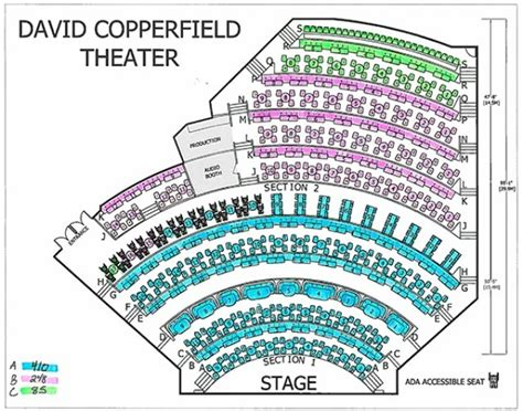 mgm seating david copperfield seating chart david copperfield at the