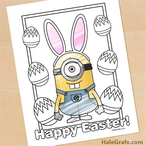 minion easter coloring page free printable easter minion coloring page
