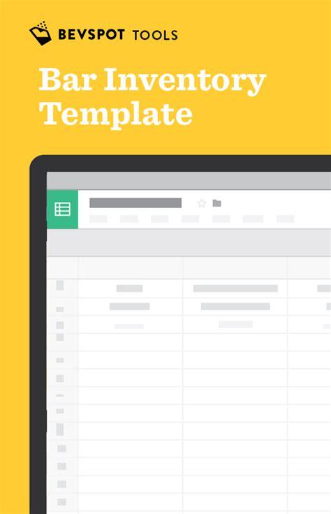 Bar Inventory Spreadsheet Bevspot Inventory Template